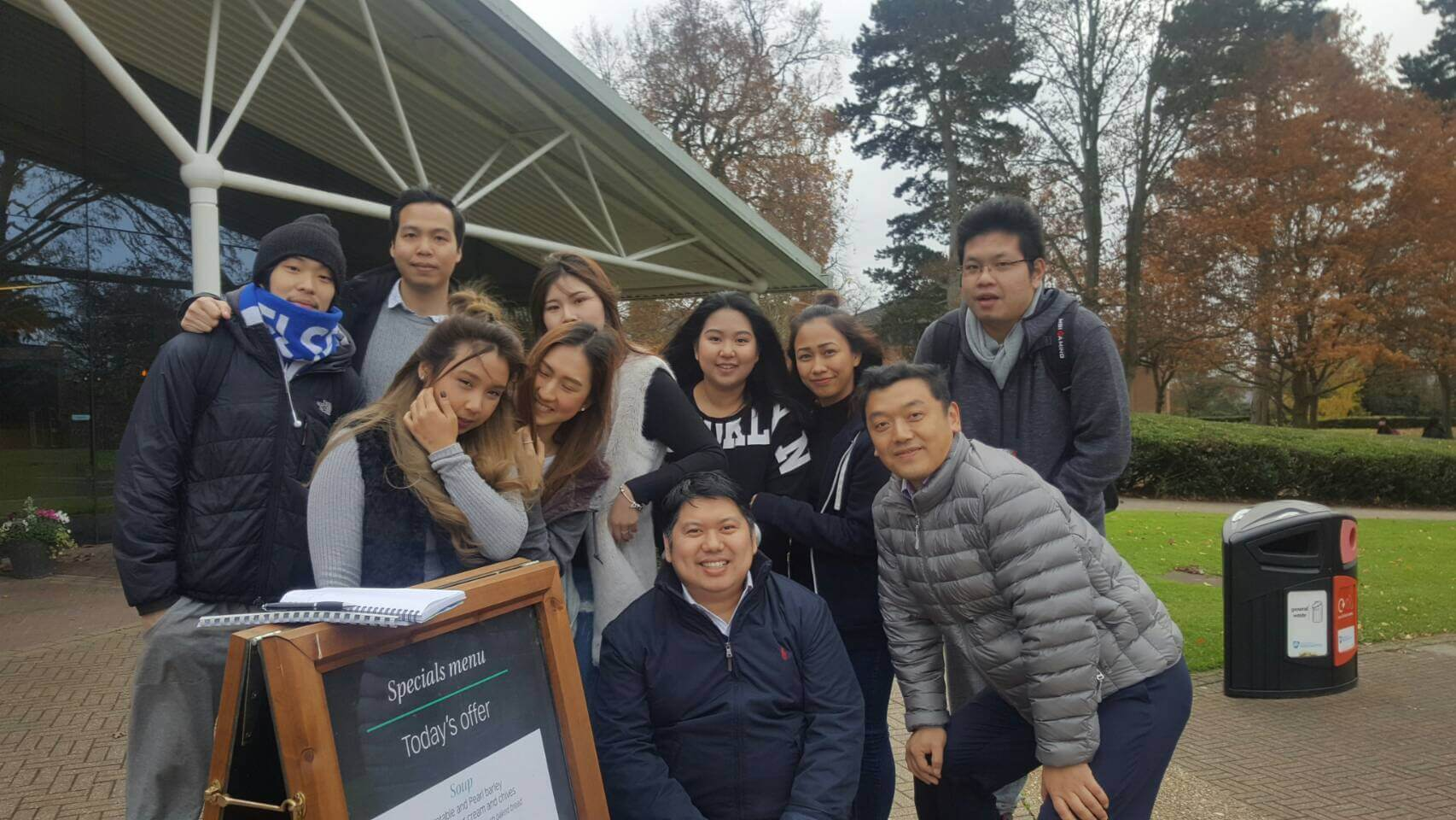 Visiting our students at University of Northampton, England